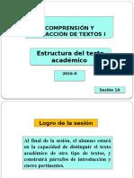 1A-ZZ03 Estructura Del Texto Académico (PPT) 2016-1