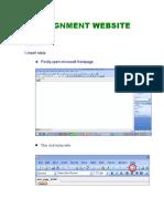Assignment Website (Nurul Shamieza Binti Mat Sharif)