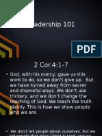 Leadership 101 2.8.15