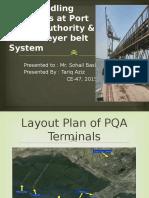 Coal terminal at port qasim