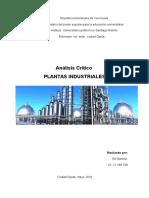 análisis critico. plantas industriales