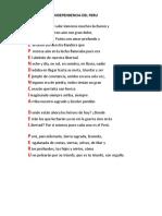 Acróstico de Independencia Del Peru
