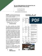 Descripcion de Las Frecuencias Utilizadas en Las Comunicaciones Satelitales