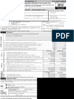 2012 IRS Form 990 Sumter Electric Cooperative Return of Tax Exempt Organization