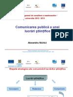 W4_Comunicarea Publica a Unei Lucrari Stiintifice