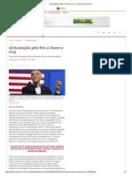 Articulação Põe Fim à Guerra Fria - Especial Papa Parte 3- Jornal Do Commercio