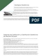 Caracterización Geológica Geotécnica
