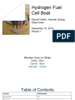 hydrogen fuel cell boat design folio