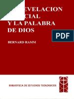 BERNARD RAMM - La revelación especial y la Palabra de Dios.pdf