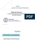 10 - What is the Internet - The History of Networks. History of the Internet