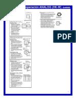 Instrucciones Casio 3363