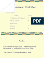 Ppt on Cost Sheet