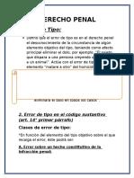 DERECHO PENAL analisis de error de tipos..docx