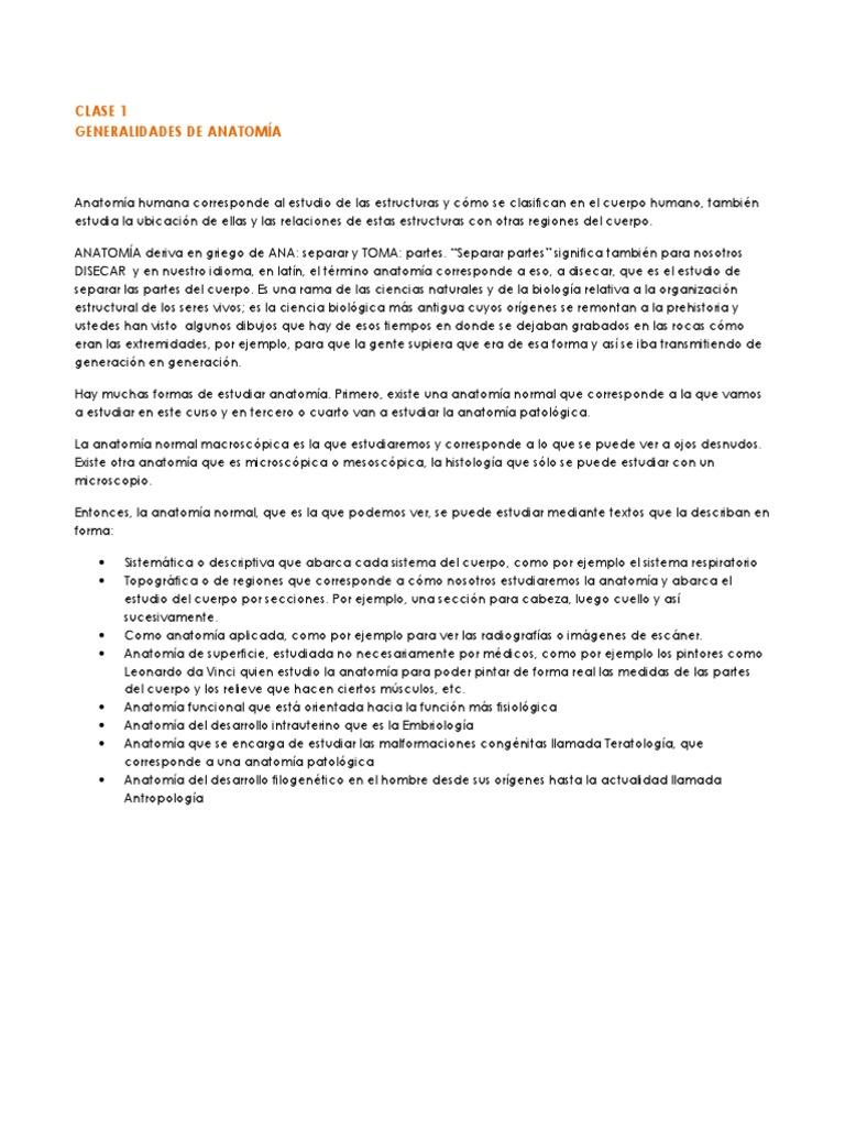 CLASE 1 Generalidades de Anatomía