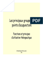 Principaux Groupes de Points Acupuncture