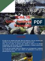 TEMA 3B Prop Físicas de los suelos, Color, temperatura, porosidad