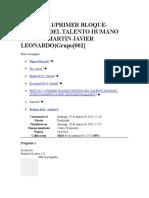 Examen Final Semana 8 Gestion Talento Humano