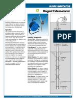50 Magnet Extensometer Datasheet