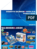 Gigabyte GA-880GMA-UD2H Motherboard Product Guide