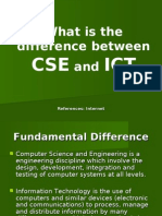 What is the Difference Between CSE and ICT
