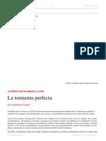 Guillermo Garat. La Tormenta Perfecta. El Dipló. Edición Nro 176. Febrero de 2014