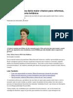 Renúncia de Dilma Daria Maior Chance Para Reformas, Avalia Consultoria Britânica - Jornal Do Commercio