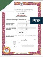 1 Lampiran Contoh Pengisian Blangko Ijazah SD 2016