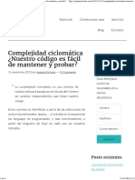 Complejidad Ciclomática ¿Nuestro Código Es Fácil de Mantener y Probar