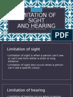 Limitation of Sight