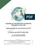 Reglas 3a. Ed. Para Logro Reconocimiento Por IATF - Espanol_Sept. 22, 2009