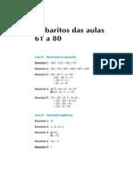 Telecurso 2000 - Ensino Fund - Matemática Gabarito4
