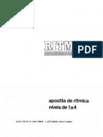 GRAMANI, Gloria Pereira Da Cunha_ GRAMANI, Jose Eduardo Ciocchi - Apostila Ritmica Niveis 1 a 4 -