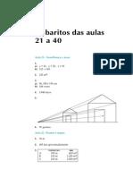 Telecurso 2000 - Matemática - Gabarito 21 a 40