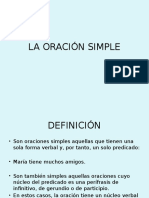 Eeeeela Oración Simple i