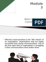 Module 3 - Basic of Internal Communication