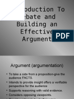 Intro to Debate and Argument