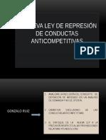Nueva Ley de Represión de Conductas Anticompetitivas