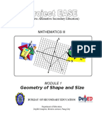 Module 1 Geometry of Shape and Size