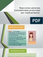 Reacciones Adversas Gastrointestinales Producidas Por Medicamentos