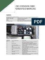 LISTADO DE CODIGOS OBD PARA DIFERENTES MARCAS.docx
