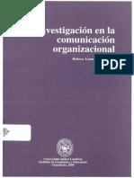 La investigación en la comunicación organizacional