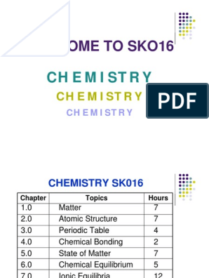 Chemistry Malaysian Matriculation Full Notes & Slides for