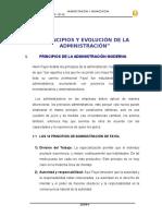 Principios y Evolución de La Admi.