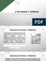 Analisis de Masas y Energia