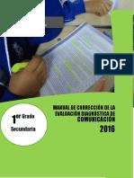Manual de corrección evaluación diagnóstica COM - 1°