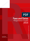 2016 Fees Dates