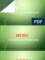 Foods in Cambodia