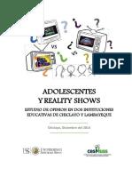 Adolescentes y Realitys Show Estudio de Opinion en Dos Ie de Chiclayo y Lambayeque