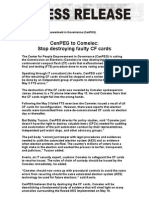 CENPEG Asks COMELEC STOP Destroying Evidence May 14 2010 FINAL