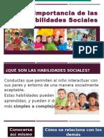 Importancia de Las Habilidades Sociales